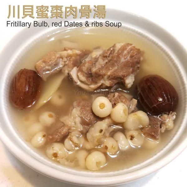 川貝蜜棗肉骨湯