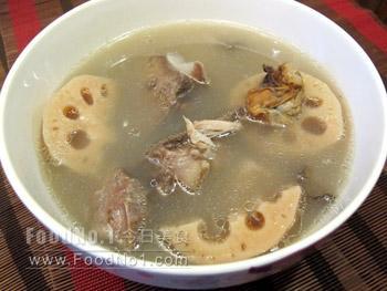 lotus-mussels-pork-soup