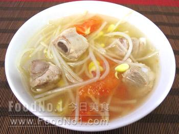 ribs bean_sprouts_soup