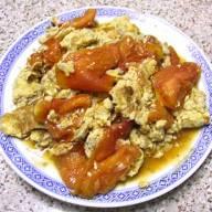 番茄肉粒炆蛋