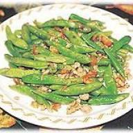 蝦米肉碎炒四季豆