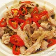 榨菜椒絲蒸豬肉青