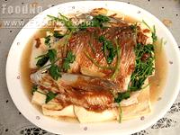 麵豉醬蒸鯇魚腩豆腐
