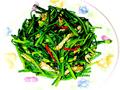 韭菜花炒肉絲