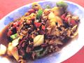 鹹菜炒蜆肉