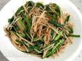 韭菜炒銀芽