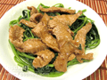 豬頸肉炒莧菜