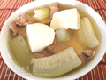 節瓜肉片豆腐湯